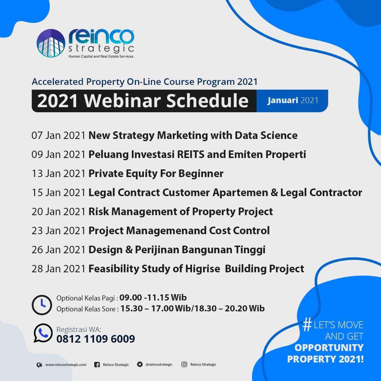 Webinar Schedule January 2021