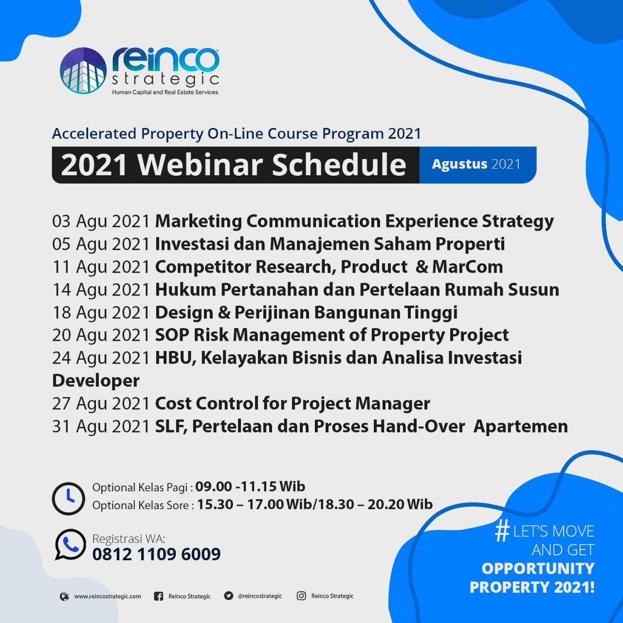 Webinar Schedule Agustus 2021