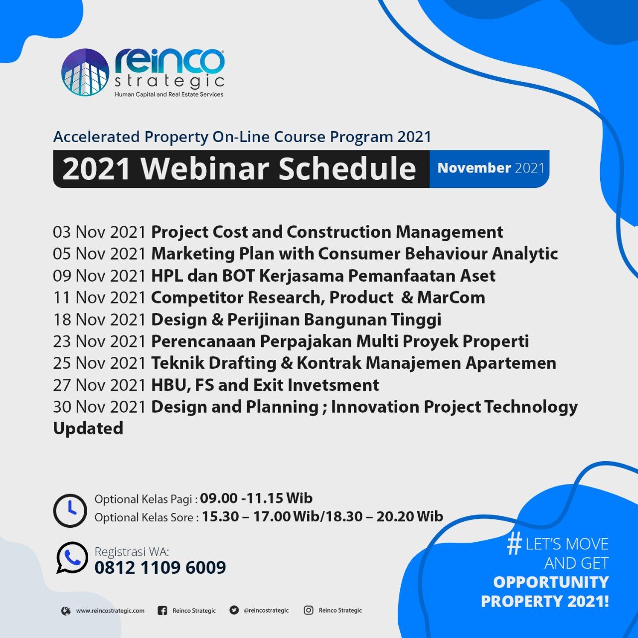 Webinar Schedule November 2021